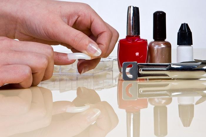 kunstige negle med gele negle sæt